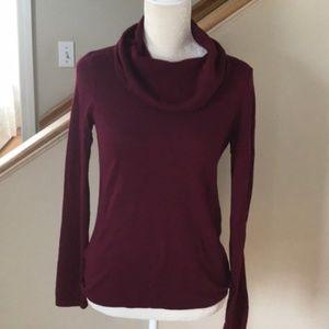 Cranberry color cowl neck sweater